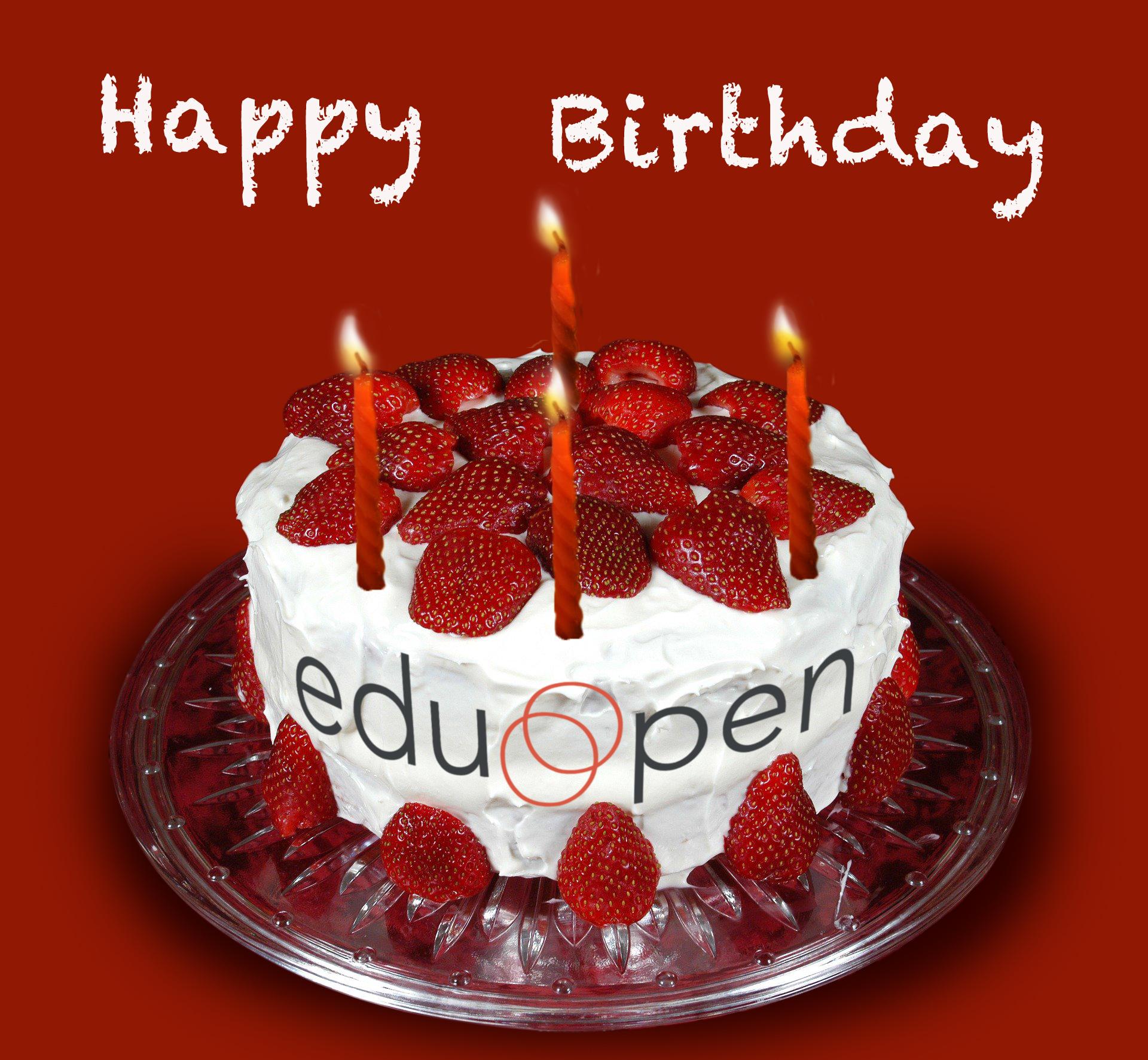 EduOpen birthday cake