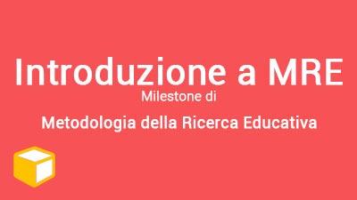 Introduzione a MRE (Ed. 2018-19)