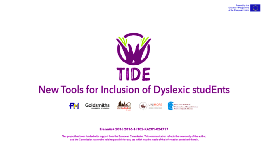 New Tools for Inclusion of Dyslexic studEnts. Good practices towards guidance